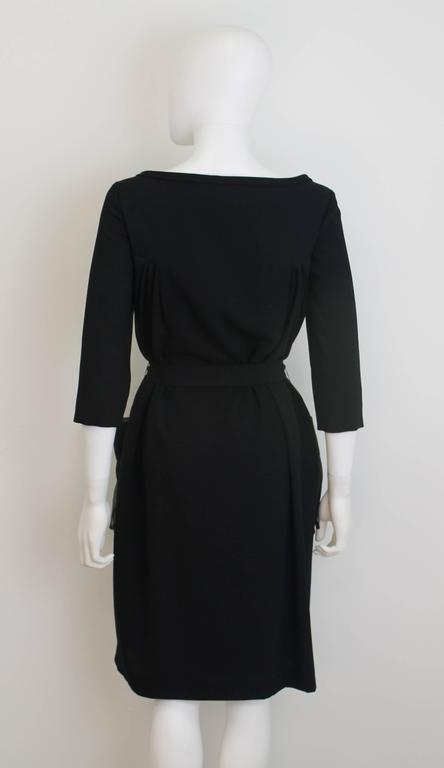 Christian Dior Black Dress with Sheer Pockets 4
