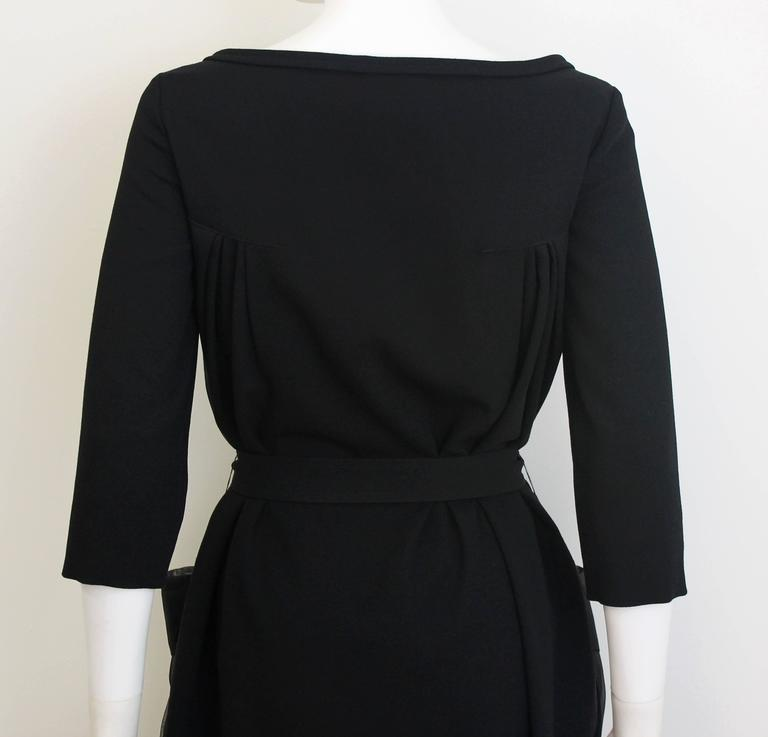 Christian Dior Black Dress with Sheer Pockets 5