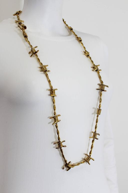 Agent Provocateur Jewelled Barbed Wire Necklace 3