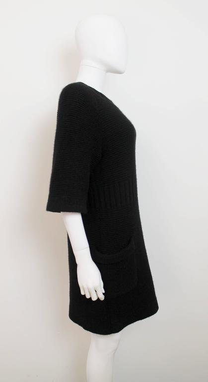 Chanel AW 2006 Black Angora Knit Dress 2