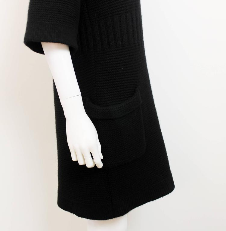 Chanel AW 2006 Black Angora Knit Dress 3