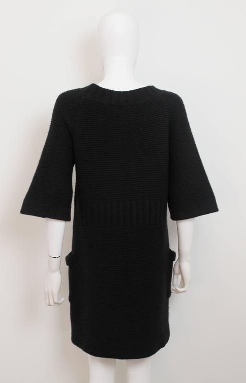 Chanel AW 2006 Black Angora Knit Dress 4