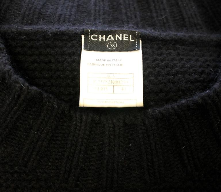Chanel AW 2006 Black Angora Knit Dress 5