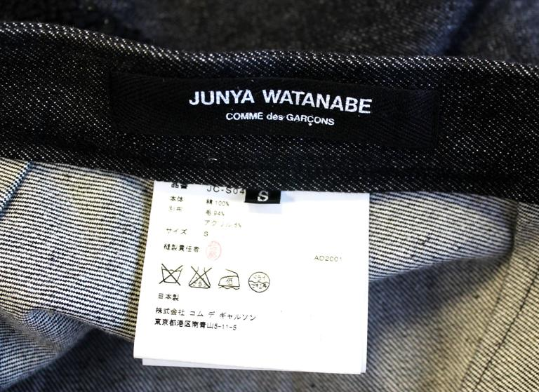 Junya Watanabe Denim and Tweed Skirt c.2001 6
