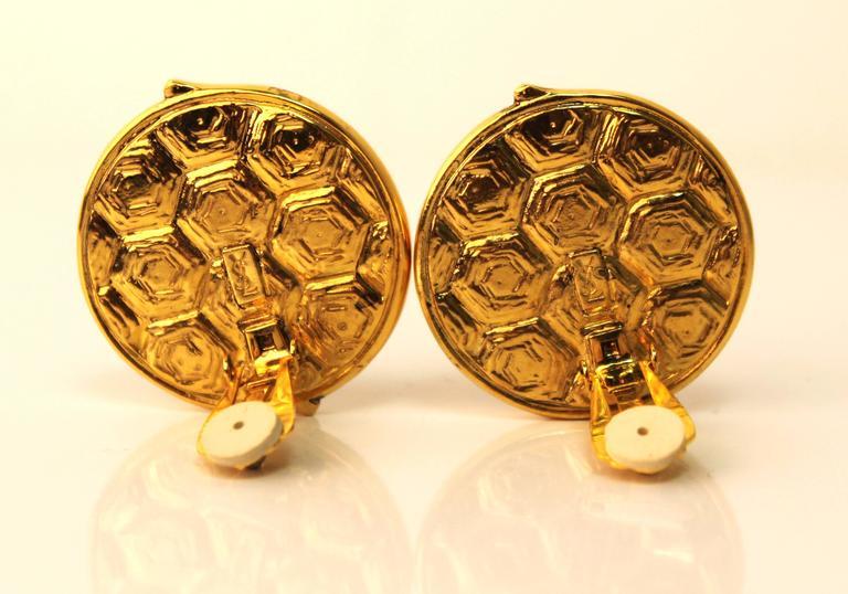 Vintage Yves Saint Laurent Tortoise-Shell Clip-On Earrings 3