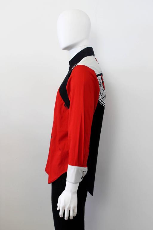c. 1990 Kansai Yamamoto Geometric Panelled Mens Colour Block Embroided Shirt  3