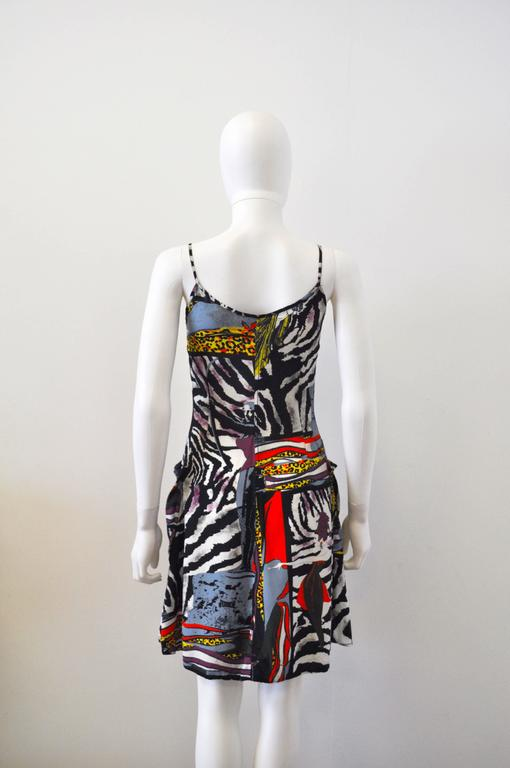 1990s Junior Gaultier by Jean-Paul Gaultier Animal Print Dress 5
