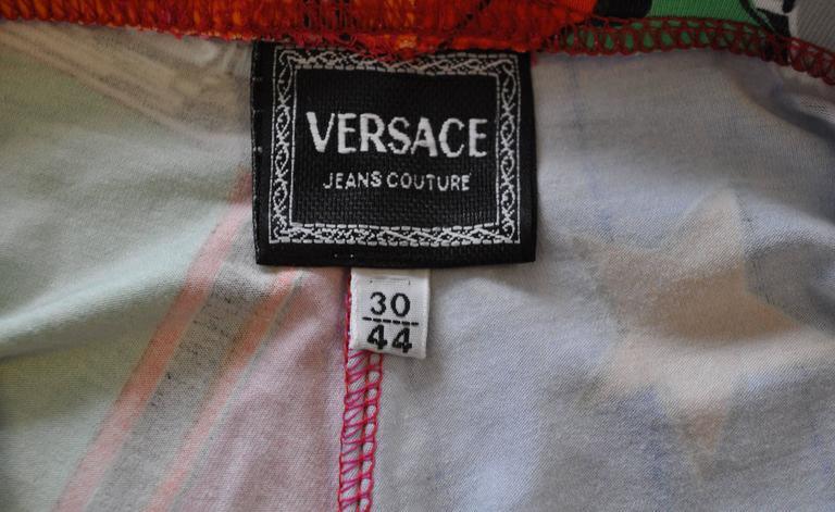 1991 Gianni Versace Betty Boop Colour Block High Waisted Print Leggings 6