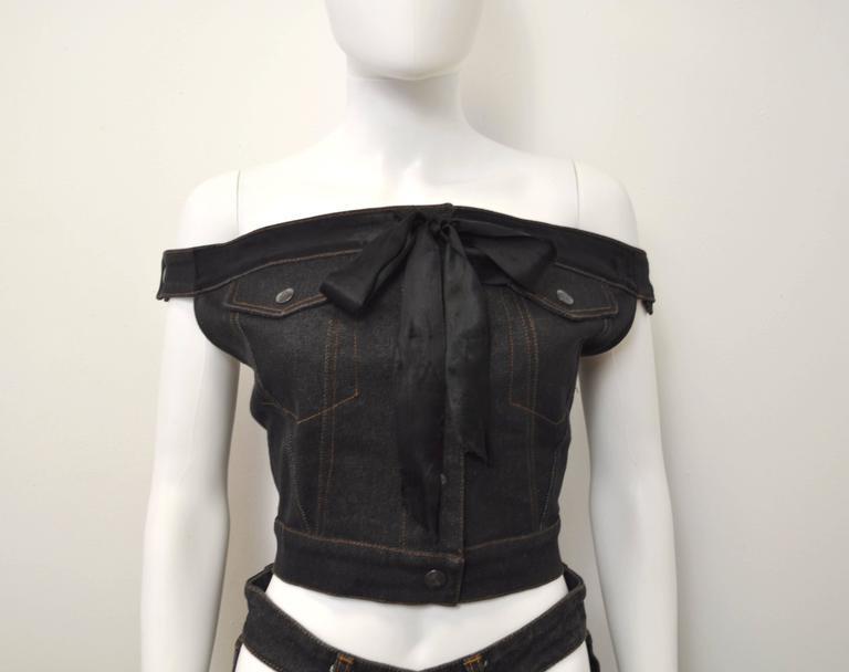 1987 Jean-Paul Gaultier Junior  deconstructed 'Victorian Jean Jacket' corset top 4