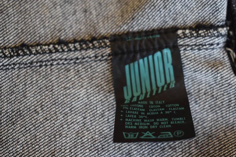 1987 Jean-Paul Gaultier Junior  deconstructed 'Victorian Jean Jacket' corset top 5