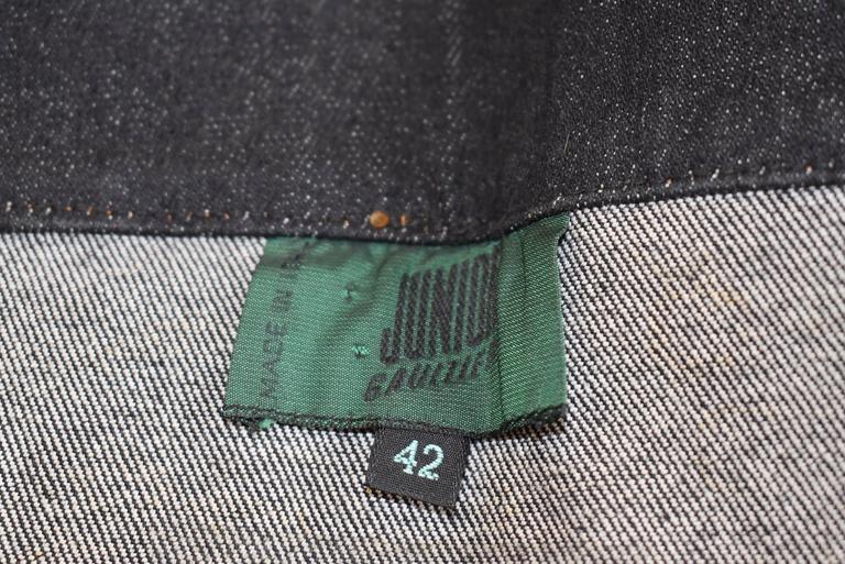 1987 Jean-Paul Gaultier Junior  deconstructed 'Victorian Jean Jacket' corset top 6