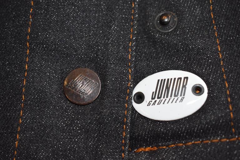 1987 Jean-Paul Gaultier Junior  deconstructed 'Victorian Jean Jacket' corset top 7