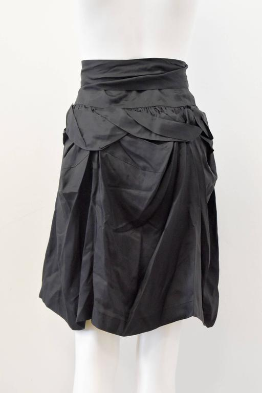 Comme des Garcons 'Tao' Black Ruffle skirt with tie-waist 2009 2