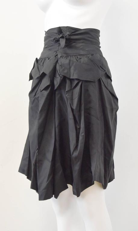 Comme des Garcons 'Tao' Black Ruffle skirt with tie-waist 2009 3