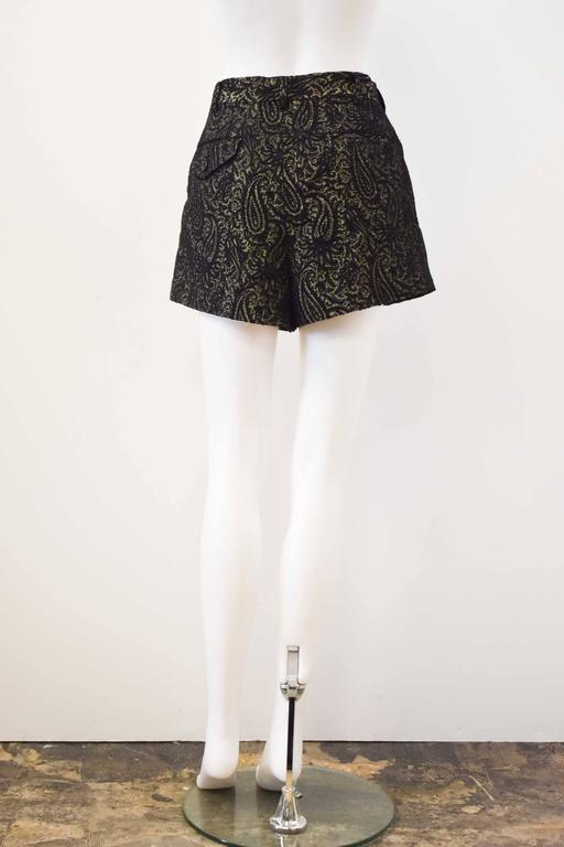 Comme des Garcons Black and Gold Brocade Shorts 2011 3