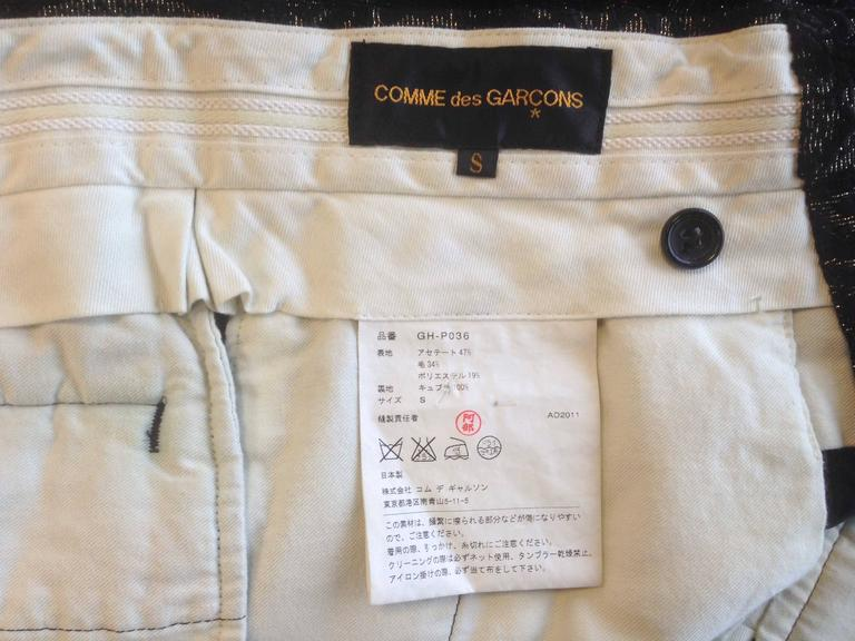 Comme des Garcons Black and Gold Brocade Shorts 2011 4
