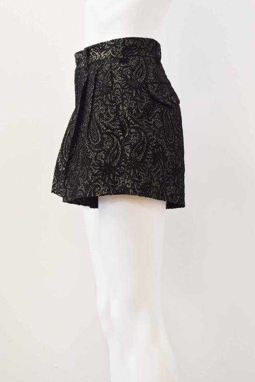 Comme des Garcons Black and Gold Brocade Shorts 2011 5