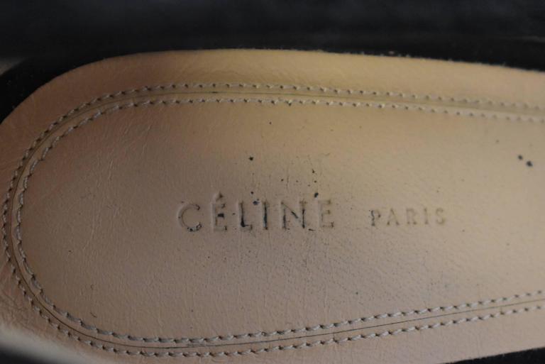 Celine S/S12 Black Suede and Red Leather Platform Ankle Strap Heels Size 38.5 7