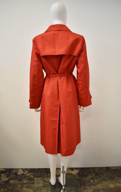 Yves Saint Laurent Rive Gauche Red Vintage Trench Coat 3