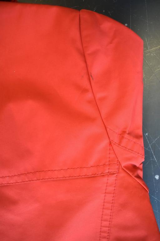 Yves Saint Laurent Rive Gauche Red Vintage Trench Coat 6