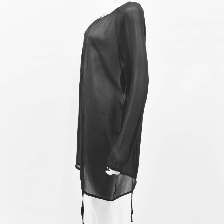 Ann Demeulemeester Black Silk Sheer Multifunction Top/Dress 3
