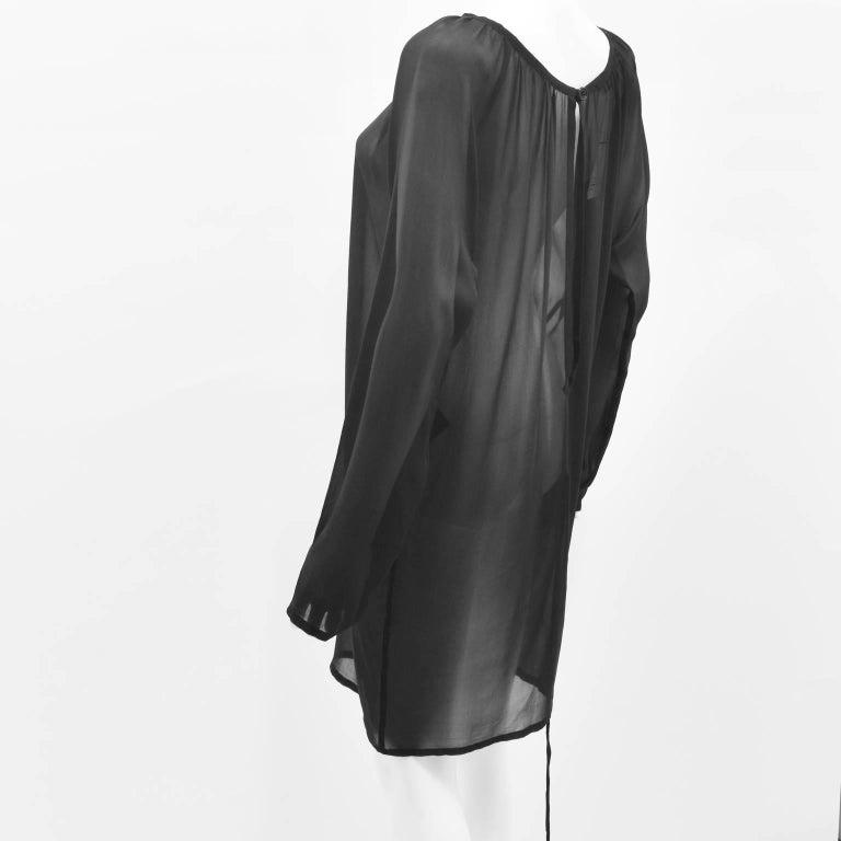 Ann Demeulemeester Black Silk Sheer Multifunction Top/Dress 4