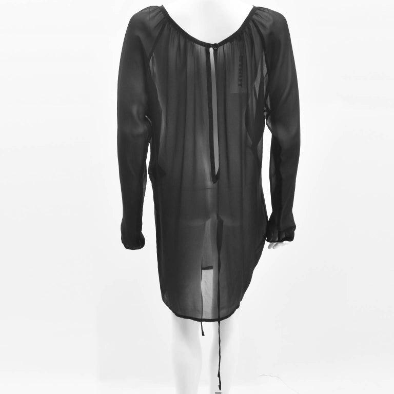 Ann Demeulemeester Black Silk Sheer Multifunction Top/Dress 5