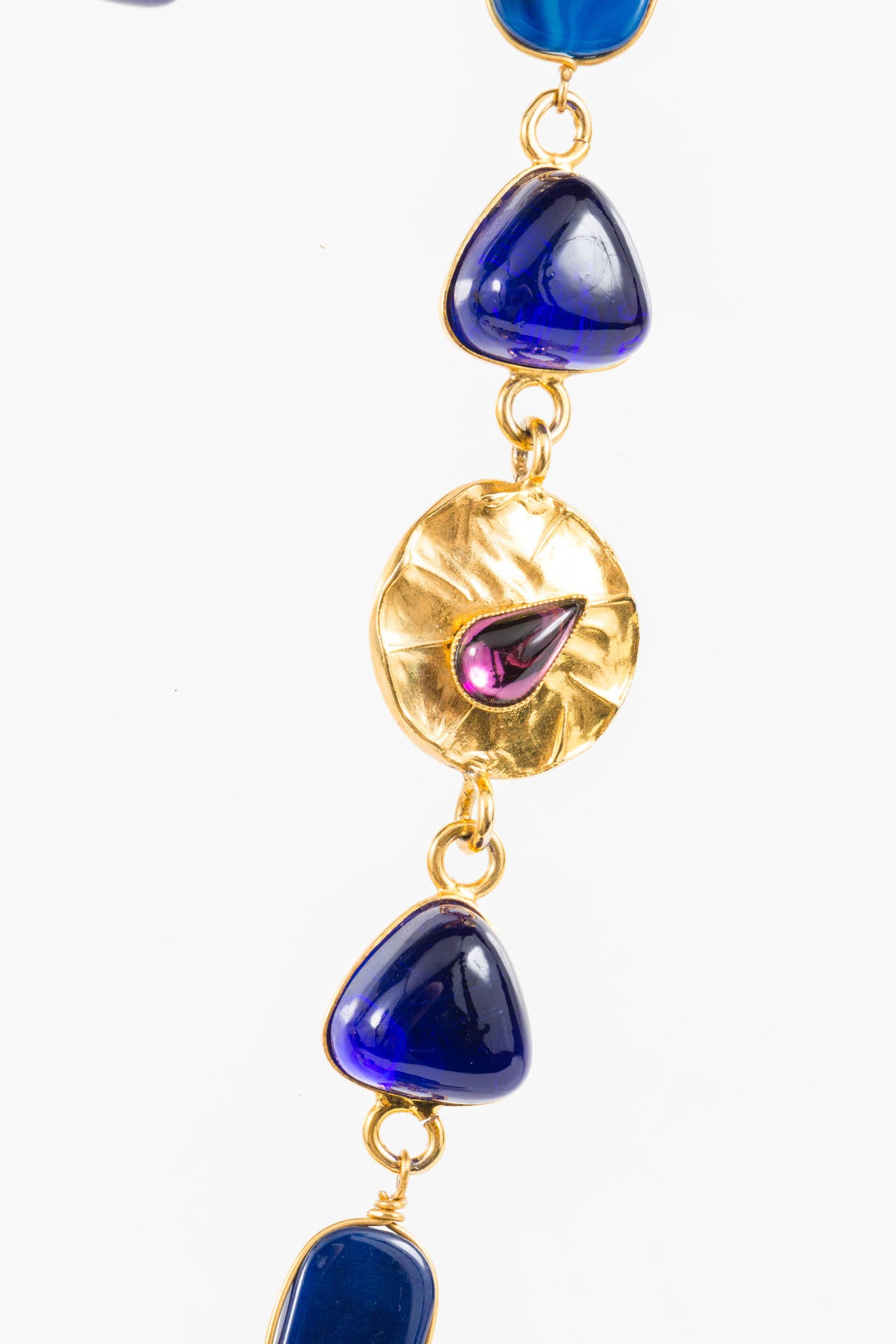 Triangular Mixed Materials Yves Saint Laurent Necklace For Sale 2
