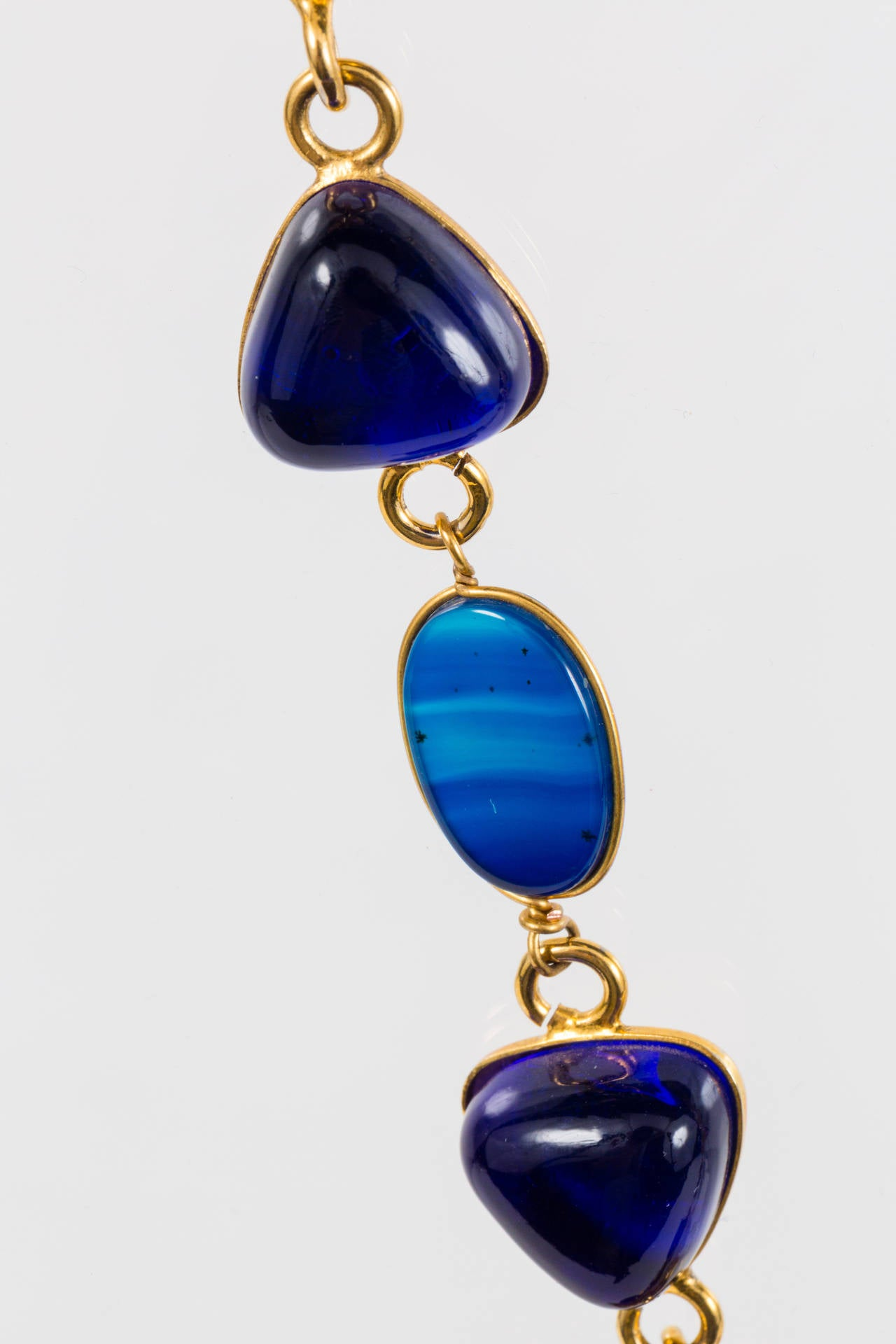 Triangular Mixed Materials Yves Saint Laurent Necklace For Sale 3