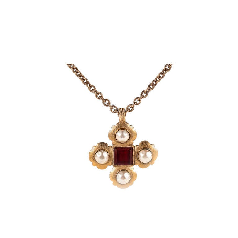 Chanel Maltese Cross Pendant At 1stdibs