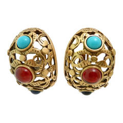 Vintage Oscar de la Renta Earrings