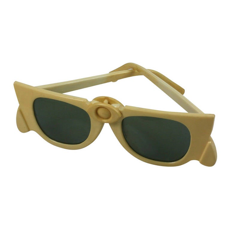 Celluloid Collapsible Sunglasses, 1950s