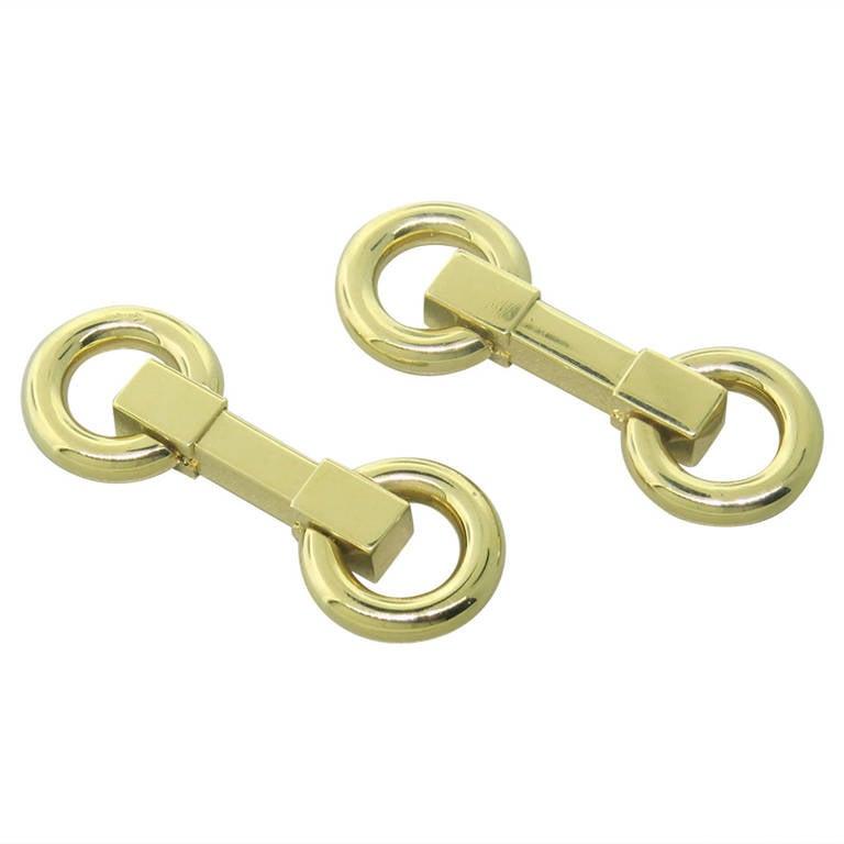 Retro French Gold Cufflinks