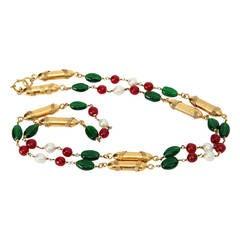 1980s Rare Chanel Sautoir Necklace