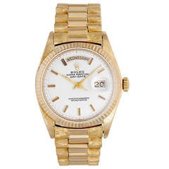 Rolex Yellow Gold Day-Date President Wristwatch Ref 1803