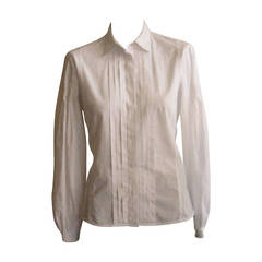 Etro White Shirt with a Surprising Back