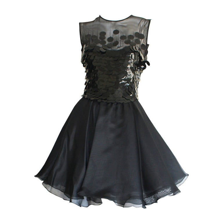 CD Greene Vintage Sexy Little Black Dress at 1stdibs
