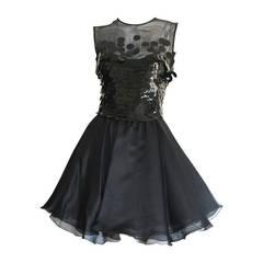 CD Greene Vintage Sexy Little Black Dress