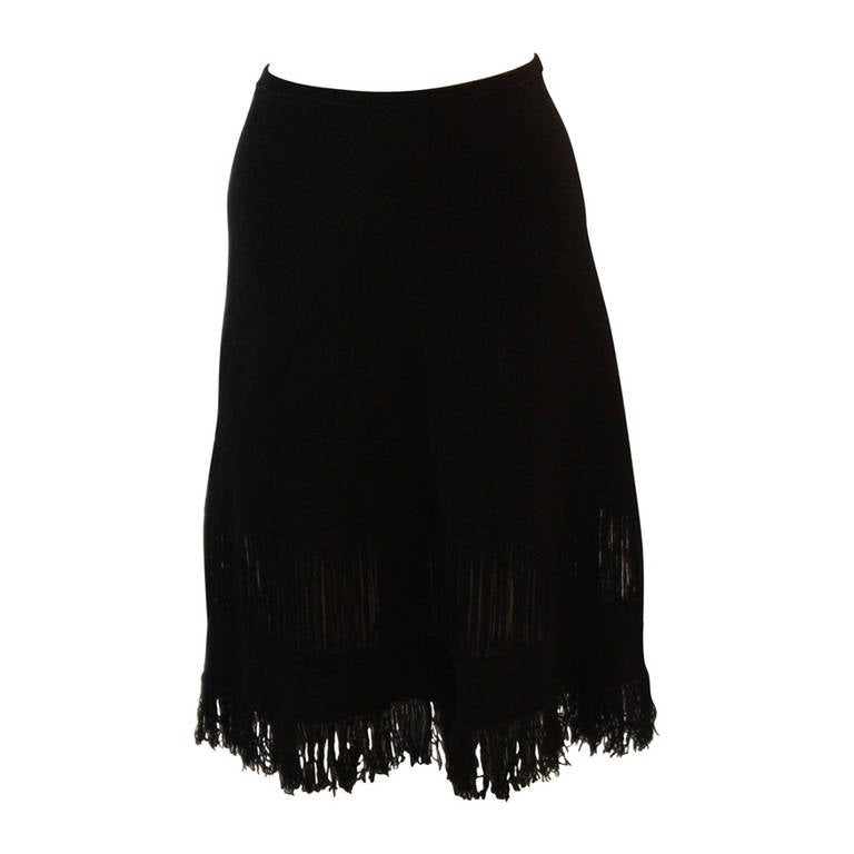Gucci Cashmere Skirt Shawl with Fringe Size M