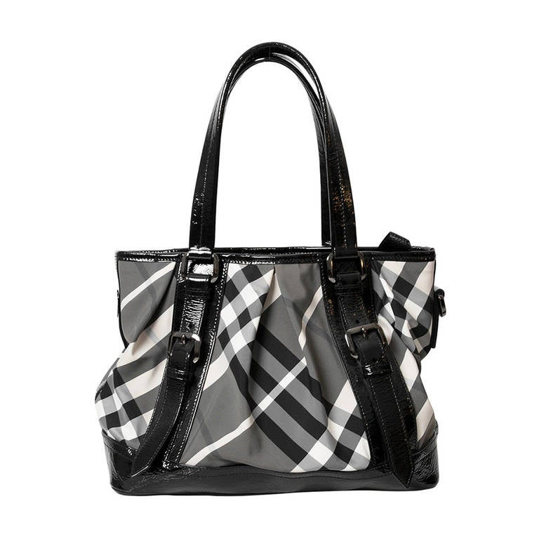 Burberry Printed Canvas Top Handle Bag 1