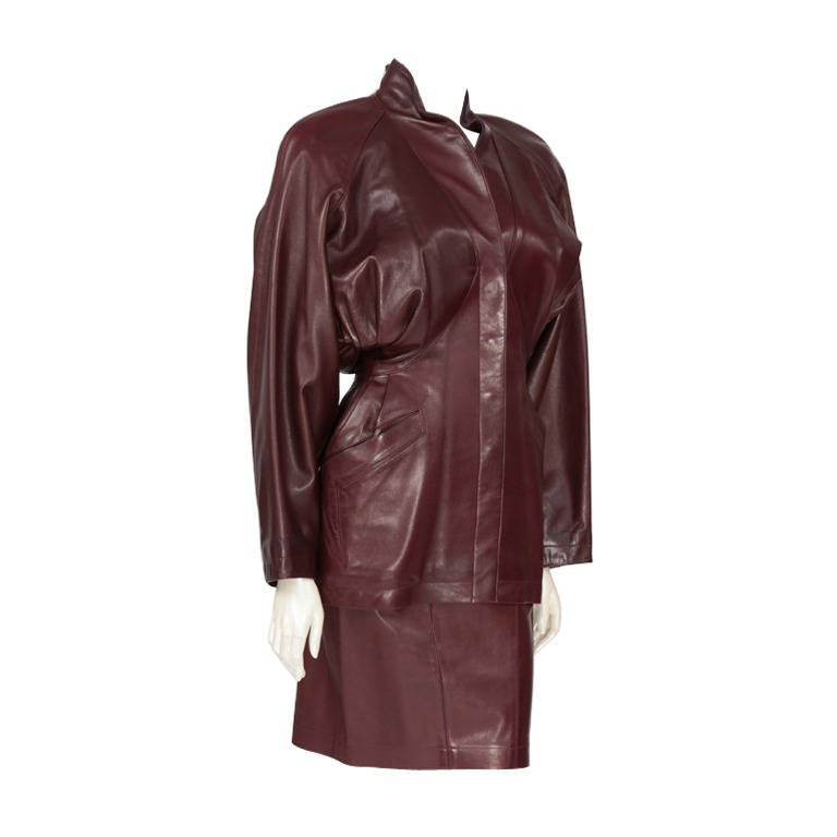 Alaia Leather Skirt Suit