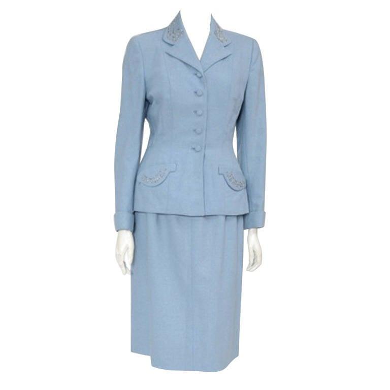 1940's Wool Skirt Suit