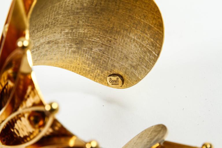 Unique Gold Gilt Crown Cuff Bracelet by Sorrell Originals 8