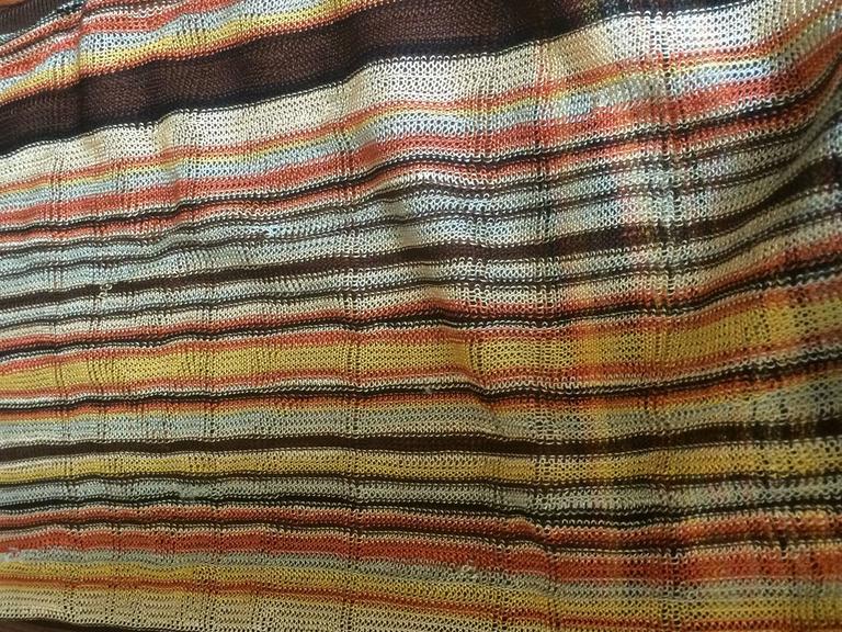 Hermes Paris Golden Yellow & Orange Sleeveless Striped Scarf Sweater  For Sale 1