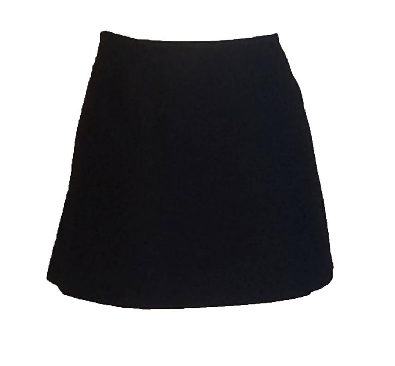 Stephen Sprouse for Barneys New York 1995 Black Micro Mini Wrap Skirt Velcro 2