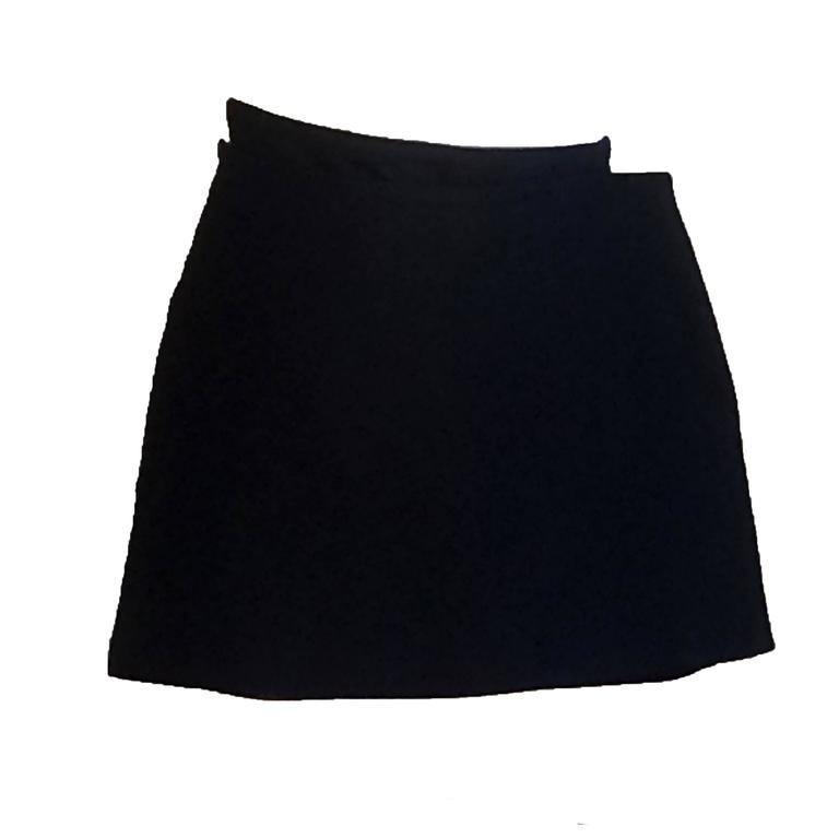 Stephen Sprouse 1990s Black Velcro Micro Mini Wrap Skirt for Barneys New York 1