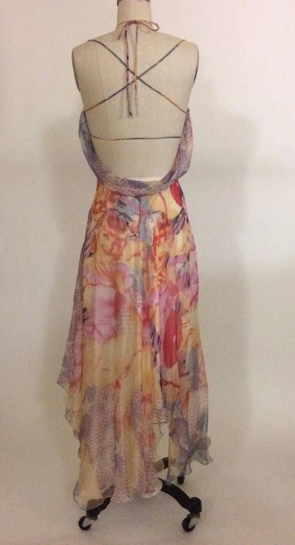 Alexander McQueen 2003 Silk Blonde Girl Pin Up Draped Strappy Backed Dress 2