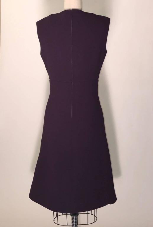 Pauline Trigere Vintage 1960s Style Purple Cut Out A-Line Shift Dress 2