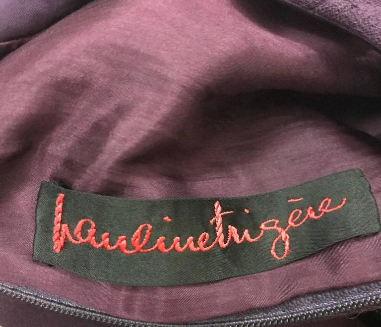 Pauline Trigere Vintage 1960s Style Purple Cut Out A-Line Shift Dress 3