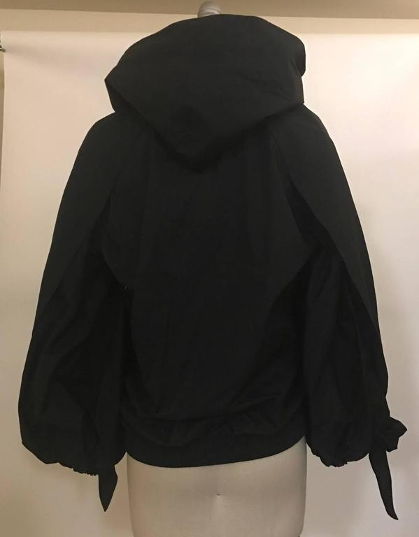 Chanel New with Tags Cruise 2015 Black Windbreaker Jacket with Detachable Scarf 3